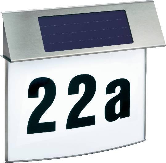Groovy Podświetlany numer domu z zasilaniem solarnym Esotec 102200, LED BK46