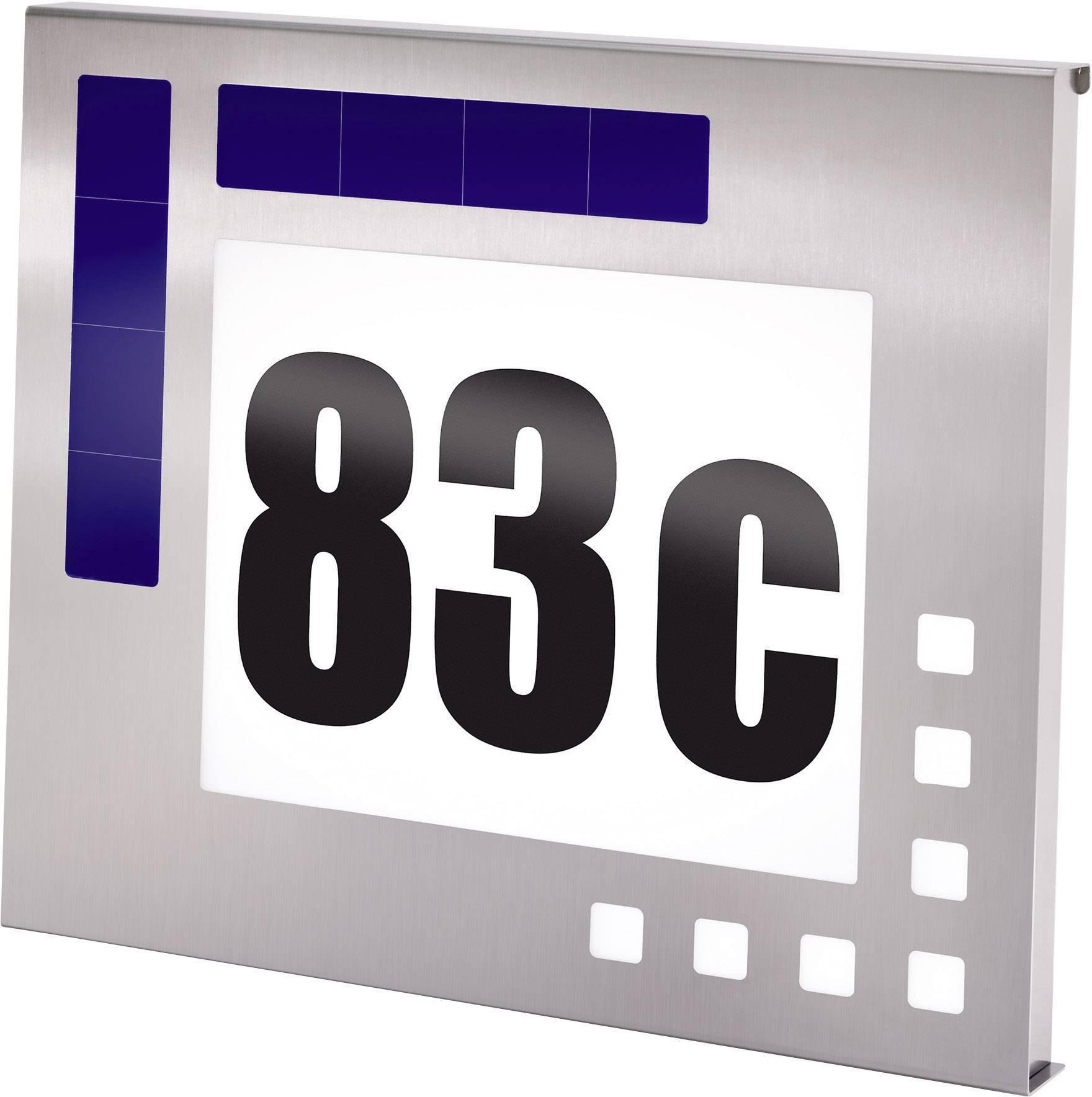 Dodatkowe Podświetlany numer domu z zasilaniem solarnym Esotec 102037, LED AO69