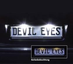 Lampa Samochodowa Led Devil Eyes Oświetlenie Tablicy Rejestracyjnej 12 V 610770