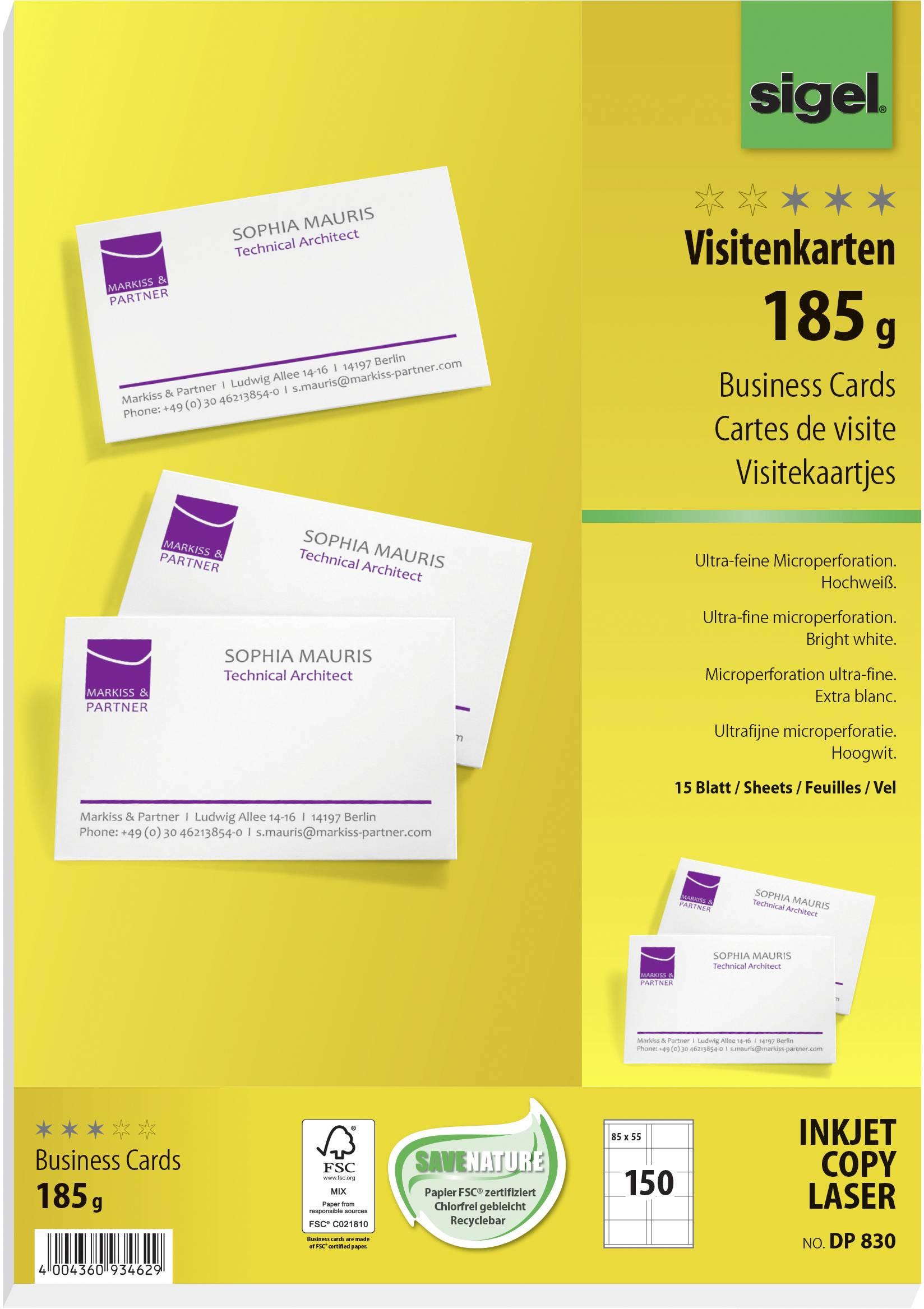 Wizytówki Do Nadruku Sigel Business Cards Dp830 150 Szt