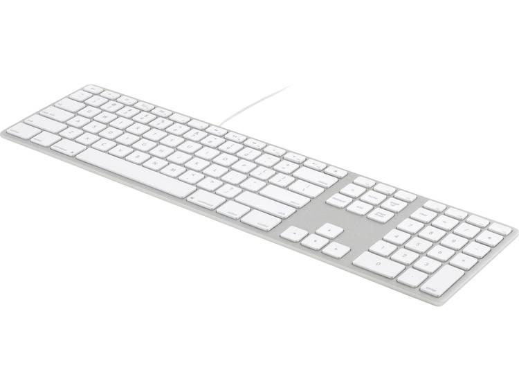 Matias MT1005AL Tangentbord US QWERTY (iOS) Aluminium USB-anslutning