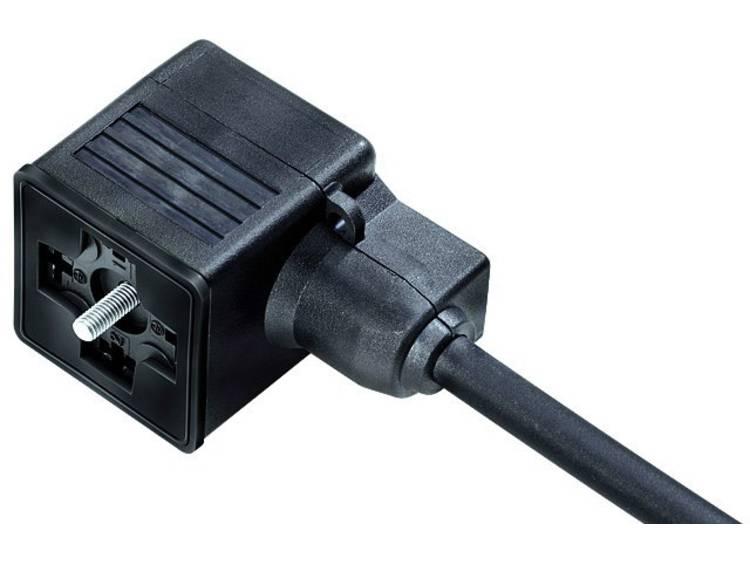 Magnetventilsteckose A kopplad LED Binder Svart 1 st