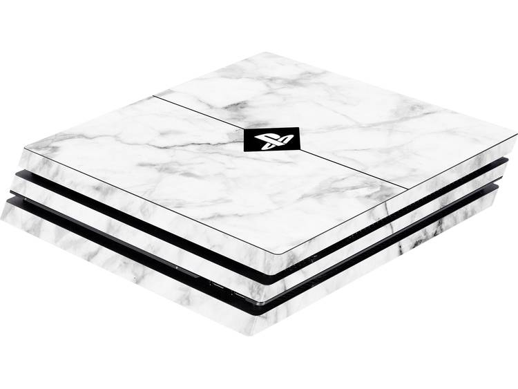 Software Pyramide Skin für PS4 Pro Konsole White Marble Skal PS4 Pro