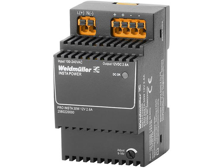 Weidmüller PRO INSTA 30W 12V 2.6A Switching Power Supply 12 V/DC 2.6 A 30 W