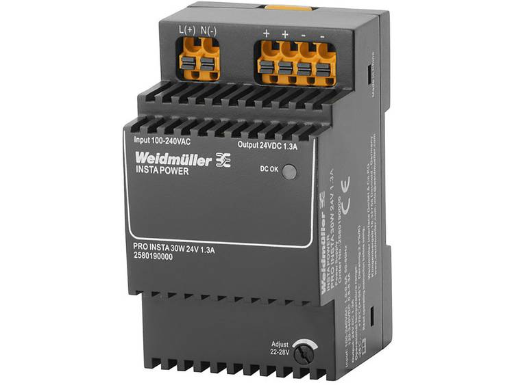 Weidmüller PRO INSTA 30W 24V 1.3A Switching Power Supply 24 V/DC 1.3 A 30 W