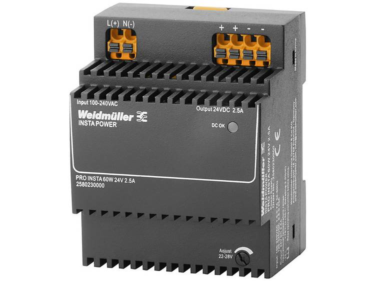 Weidmüller PRO INSTA 60W 24V 2.5A Switching Power Supply 24 V/DC 2.5 A 60 W
