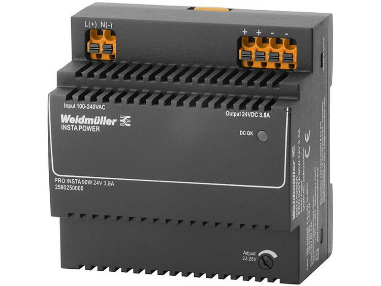 Weidmüller PRO INSTA 90W 24V 3.8A Switching Power Supply 24 V/DC 3.8 A 90 W