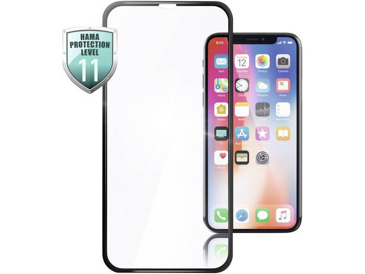 Hama 3D-Full-Screen-Protection Displayskyddsglas Lämplig för: Apple iPhone 11 Pro Max 1 st
