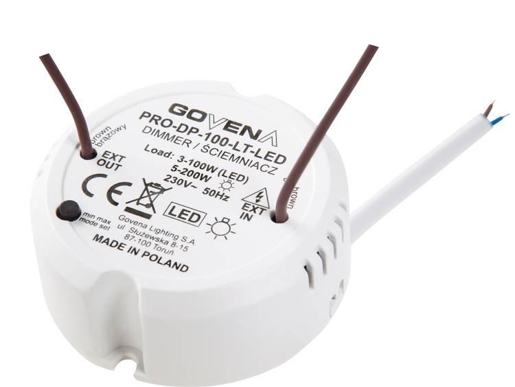 Govena Lighting PRO-DP-100-LT-LED Universaldimmer Passar: LED-lampa, Halogenlampa, Glödlampa, Lågenergilampa, Lysrör