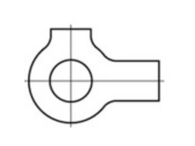 Brickor med två flikar Inre diameter: 28 mm DIN 463 Stål 50 st TOOLCRAFT 107453