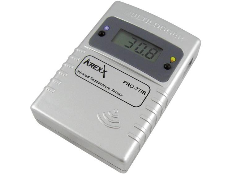 Arexx PRO-77ir Datalogger-sensor Kalibrerad enligt (DAkkS) Mått Temperatur -70 till 380 °C
