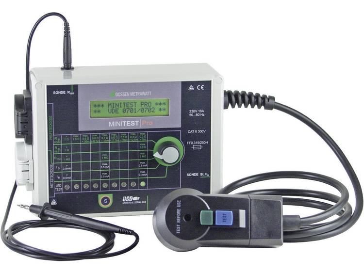 Gossen Metrawatt MINITEST Pro Apparattestare DIN VDE 0701-1: 2000 och DIN VDE 0702: 2004