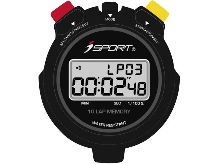 iSport JG021 Pro Stoppur digital Svart