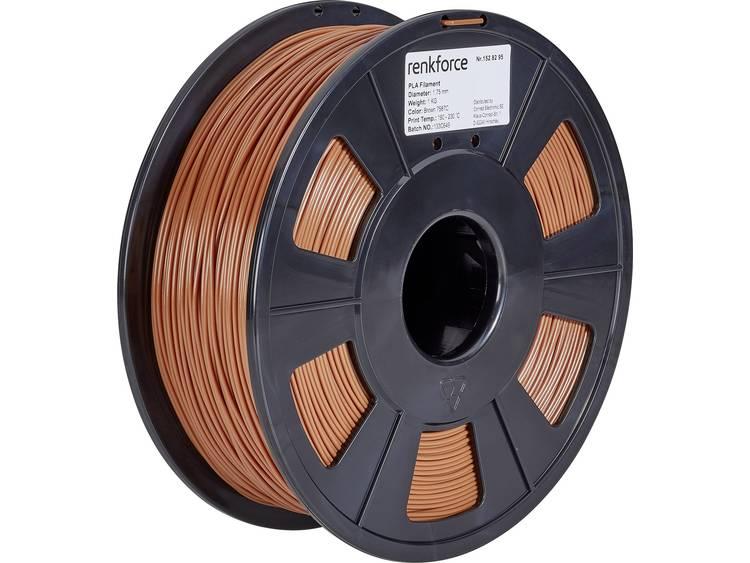 Renkforce RF-4511212 3D-skrivare Filament PLA-plast 1.75 mm 1000 g Brun