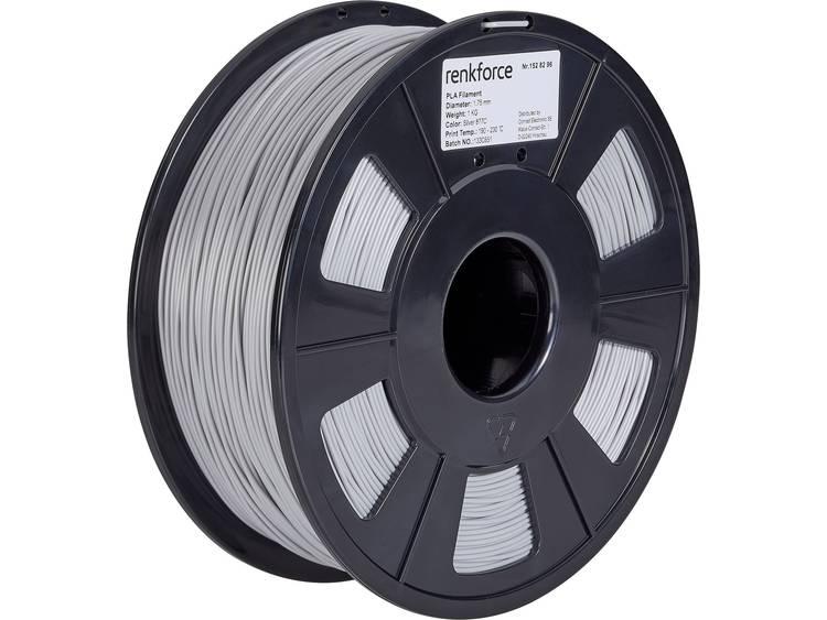 3D-skrivare Filament Renkforce PLA-plast 1.75 mm Silver 1 kg