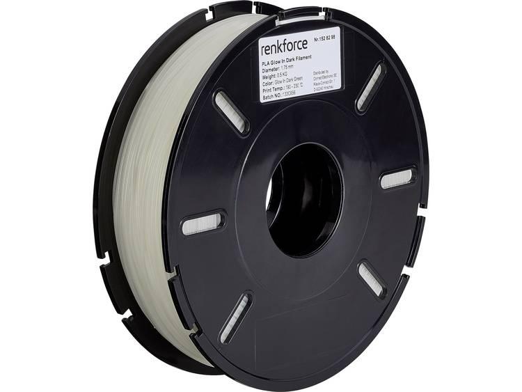 3D-skrivare Filament Renkforce PLA-plast 1.75 mm Grön (fluorescerat) 500 g
