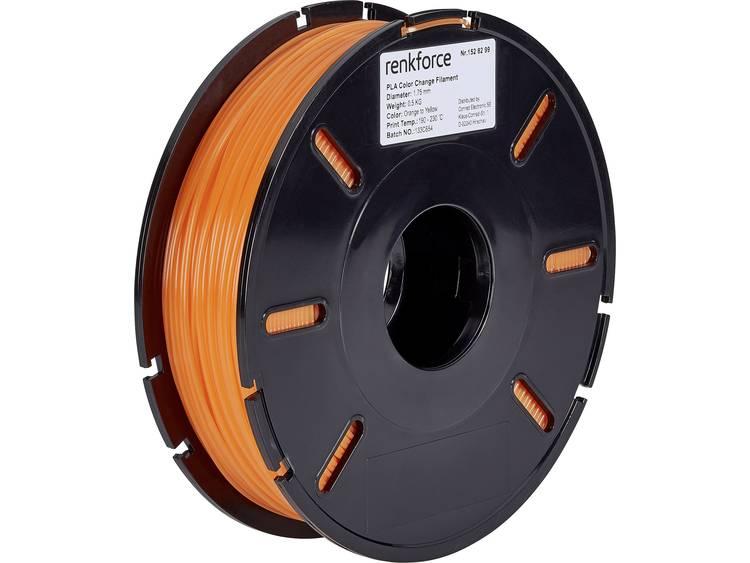 3D-skrivare Filament Renkforce PLA-plast 1.75 mm Orange, Gul 500 g