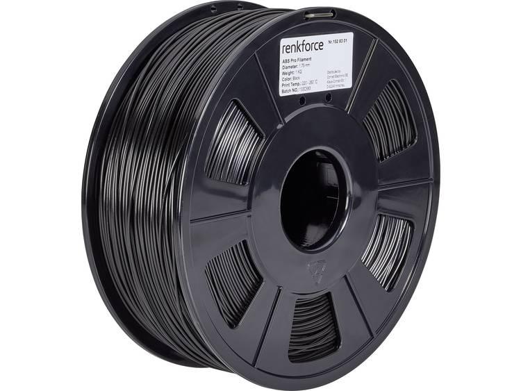 3D-skrivare Filament Renkforce ABS-plast 1.75 mm Svart 1 kg