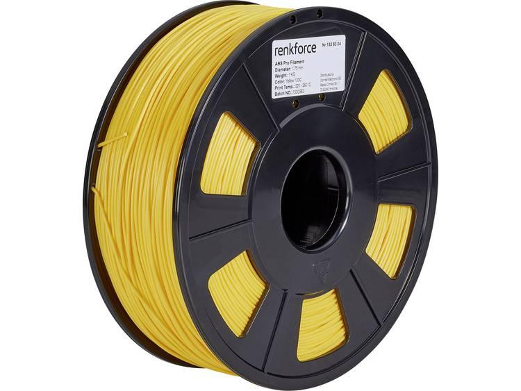 3D-skrivare Filament Renkforce ABS-plast 1.75 mm Gul 1 kg