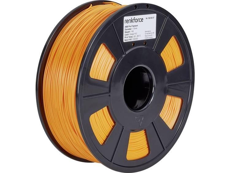 3D-skrivare Filament Renkforce ABS-plast 1.75 mm Orange 1 kg