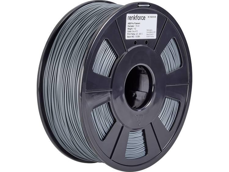 3D-skrivare Filament Renkforce ABS-plast 1.75 mm Grå 1 kg