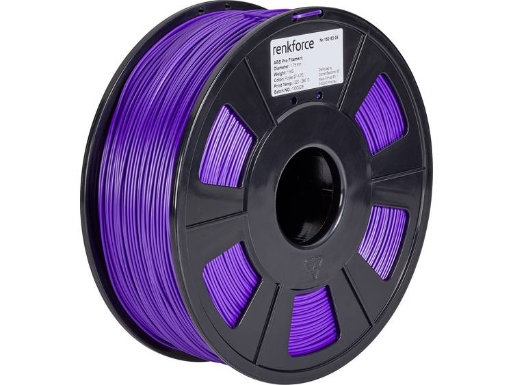 3D-skrivare Filament Renkforce ABS-plast 1.75 mm Purpur 1 kg