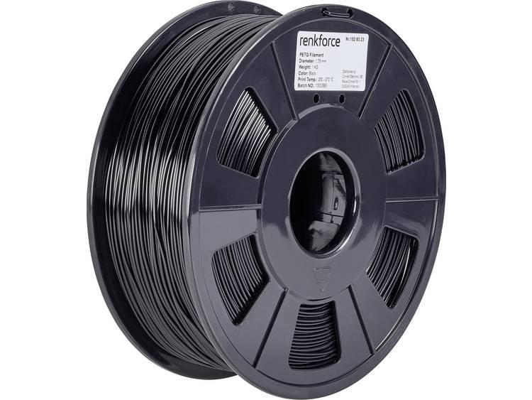 3D-skrivare Filament Renkforce PETG 1.75 mm Svart 1 kg