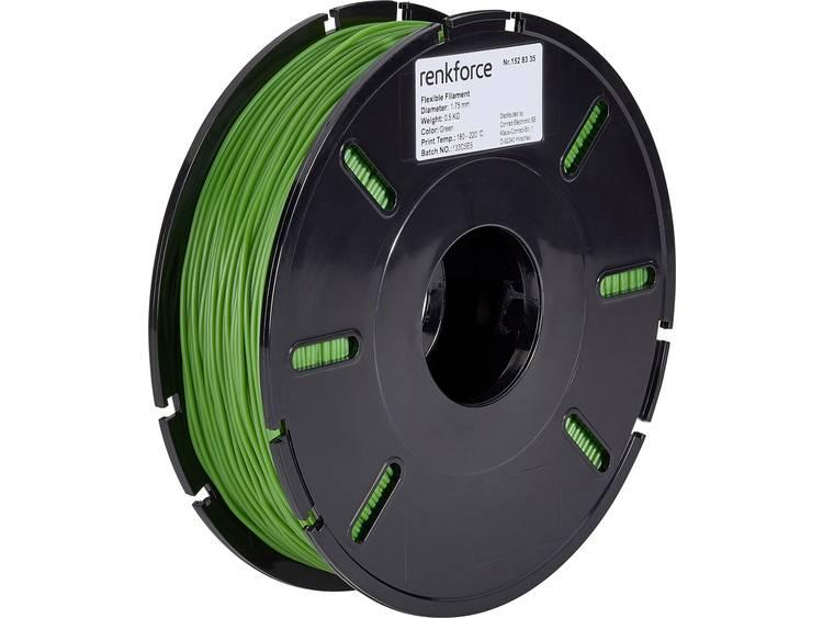 3D-skrivare Filament Renkforce Flexibelt filament 1.75 mm Grön 500 g