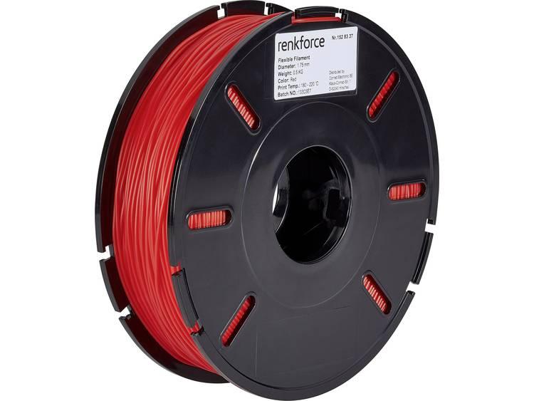 3D-skrivare Filament Renkforce Flexibelt filament 1.75 mm Röd 500 g