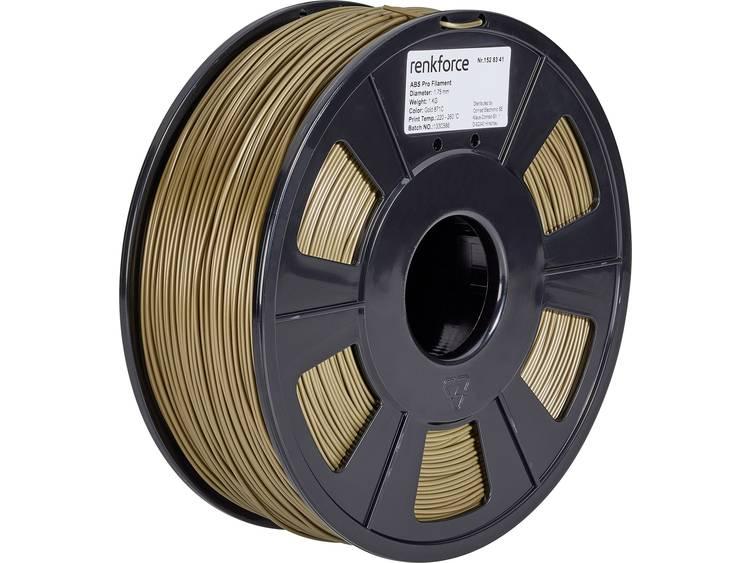 3D-skrivare Filament Renkforce ABS-plast 1.75 mm Guld 1 kg