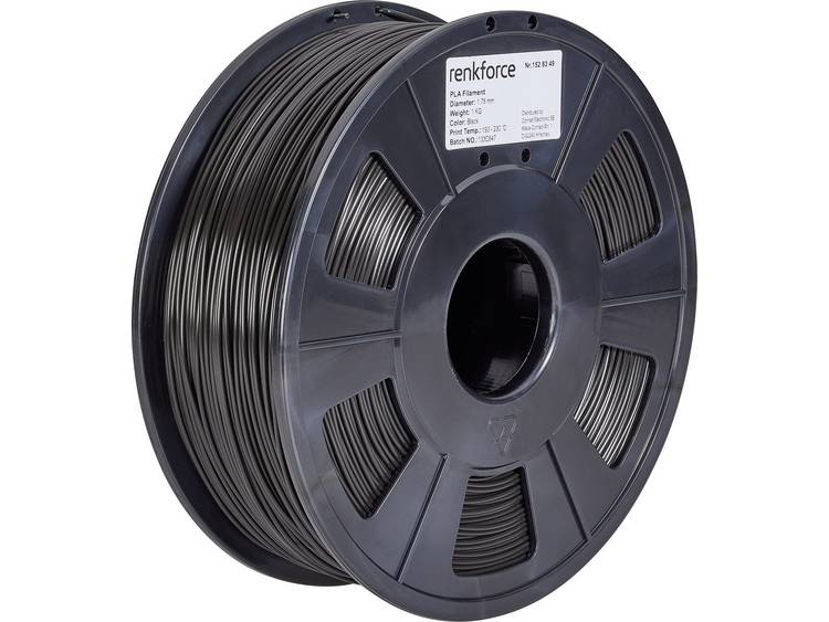 Renkforce RF-4511188 3D-skrivare Filament PLA-plast 1.75 mm 1000 g Svart