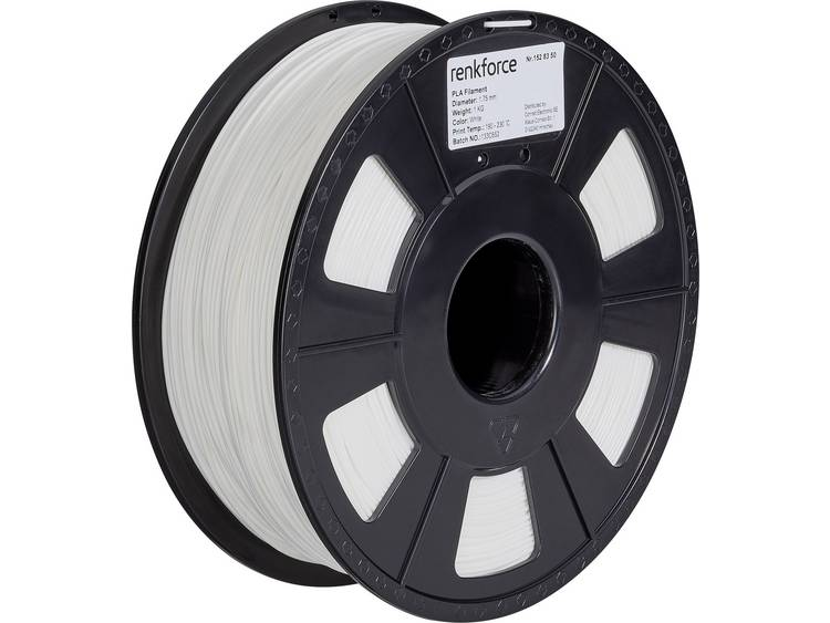 Renkforce RF-4511220 3D-skrivare Filament PLA-plast 2.85 mm 1000 g Grå