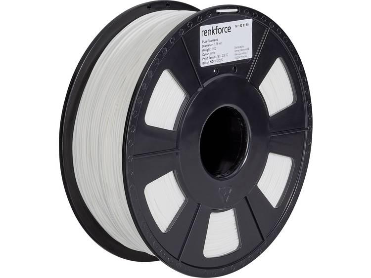 3D-skrivare Filament Renkforce PLA-plast 1.75 mm Vit 1 kg