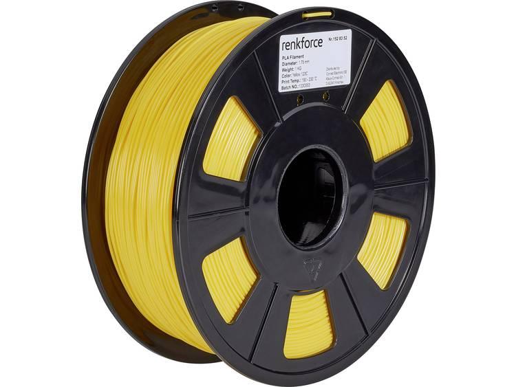 3D-skrivare Filament Renkforce PLA-plast 1.75 mm Gul 1 kg