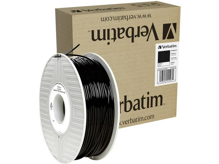 Verbatim 55507 TPE Filament PRIMALLOY™ 3D-skrivare Filament TPE-plast flexibel 2.85 mm 500 g Svart