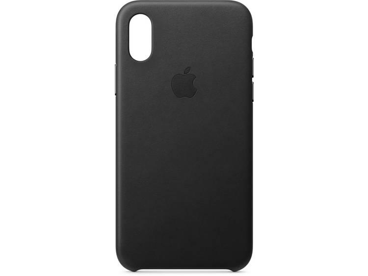 Apple Leder Case Backcover Apple iPhone XS Svart