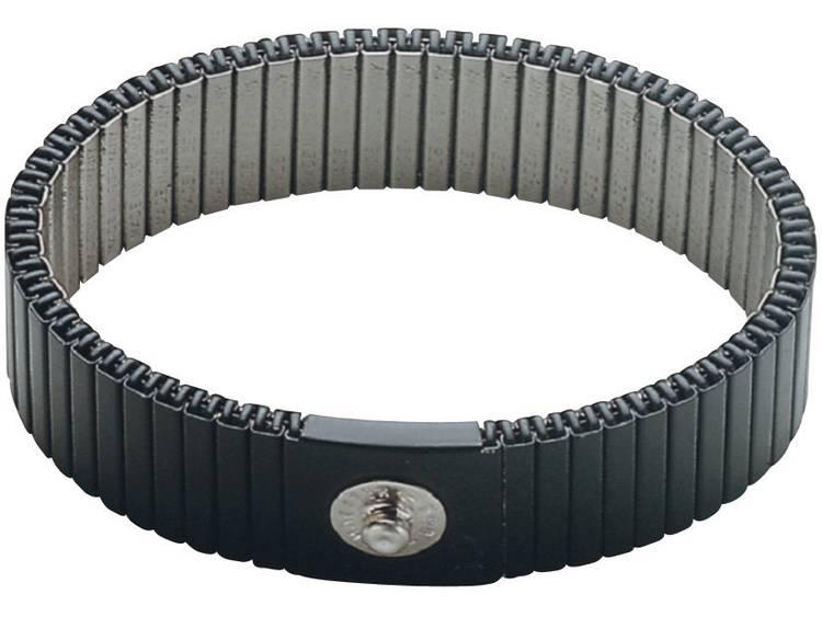 BJZ C-189 146 4,0 ELL ESD-handledsband Grå kan förkortas Tryckknapp 4 mm