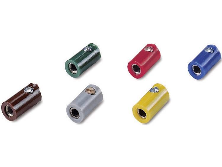 07722 Modelljärnväg hylsor 2,6 mm 10 st utan tvärgående hål Gul