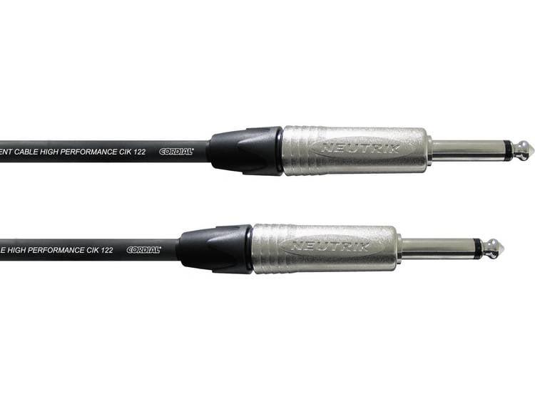 Cordial Pro Line Instrument Kabel [1x Teleplugg 6.35 mm - 1x Teleplugg 6.35 mm] 6.00 m Svart