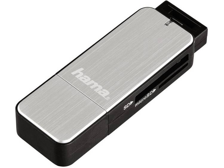 Hama 123900 Extern minneskortläsare USB 3.0 Silver