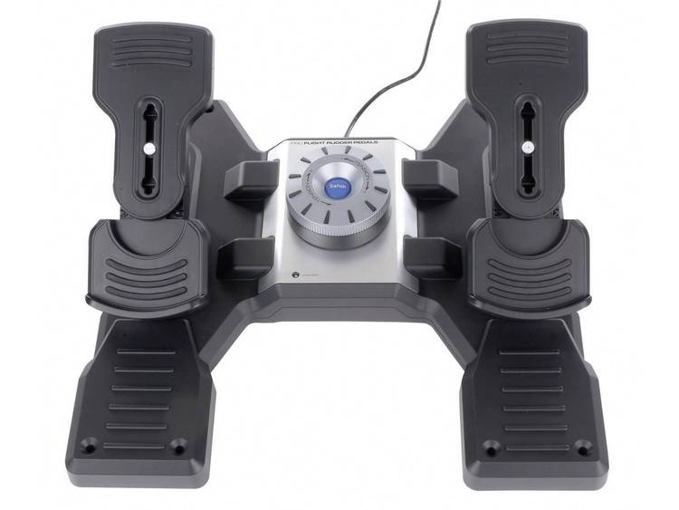 Logitech Gaming Saitek Pro Flight Rudder Pedals PZ35 Flygsimulator-pedal USB PC Svart