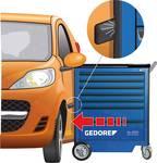 2005 0511 - GEDORE - Nástrojový vozík so 7 zásuvkami