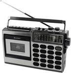 Retro rádiový kazetový magnetofón s nahrávaním cez USB / SD
