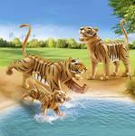 2 tigre s dieťaťom