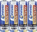 Conrad energy NiMH Mignon batérie 2750 mAh, sada 4 ks