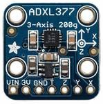 Analógový 3-osový snímač zrýchlenia ADXL377 do ± 200 g