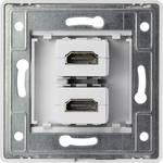 renkforce 2 portová zapustená nástenná zásuvka HDMI s káblom