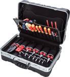 Elektronický kufrík na náradie Zabezpečenie 55 kusov
