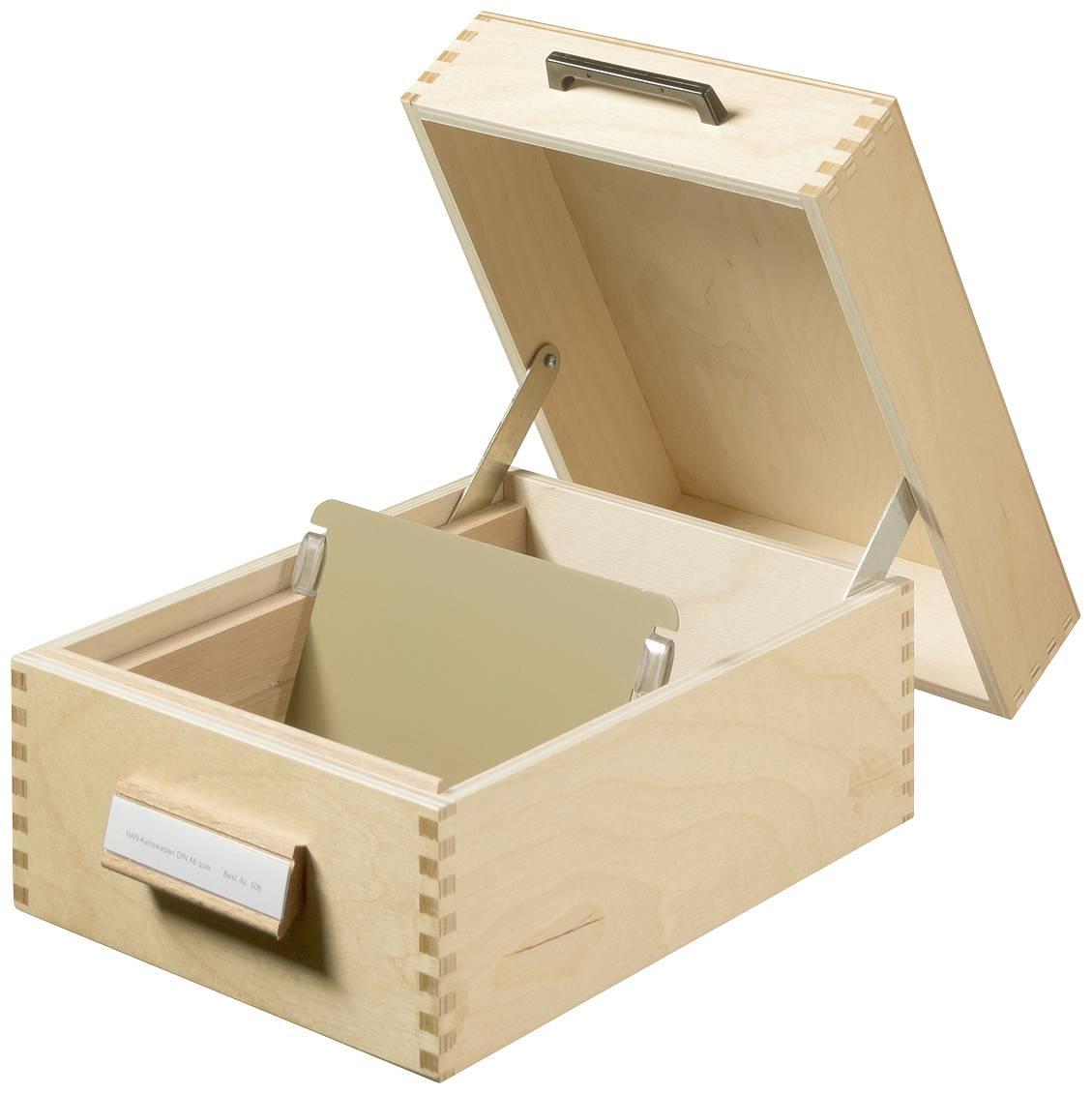 HAN Lesena škatla za kartoteke/506 A6 horizontalen Holz naravna barva 193x250x144mm