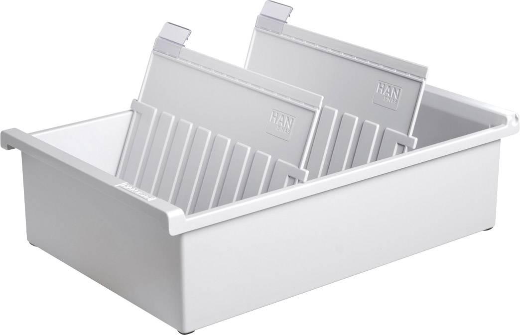 HAN Škatla za kartice DIN A5 horizontalen/955-0-11 svetlo siva, plastika 228x320x96mm